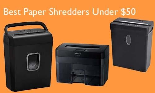 Best Paper Shredders Under $50