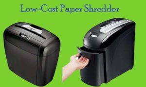 Low cost paper shredders